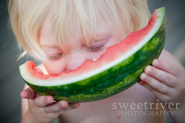 diving into watermelon